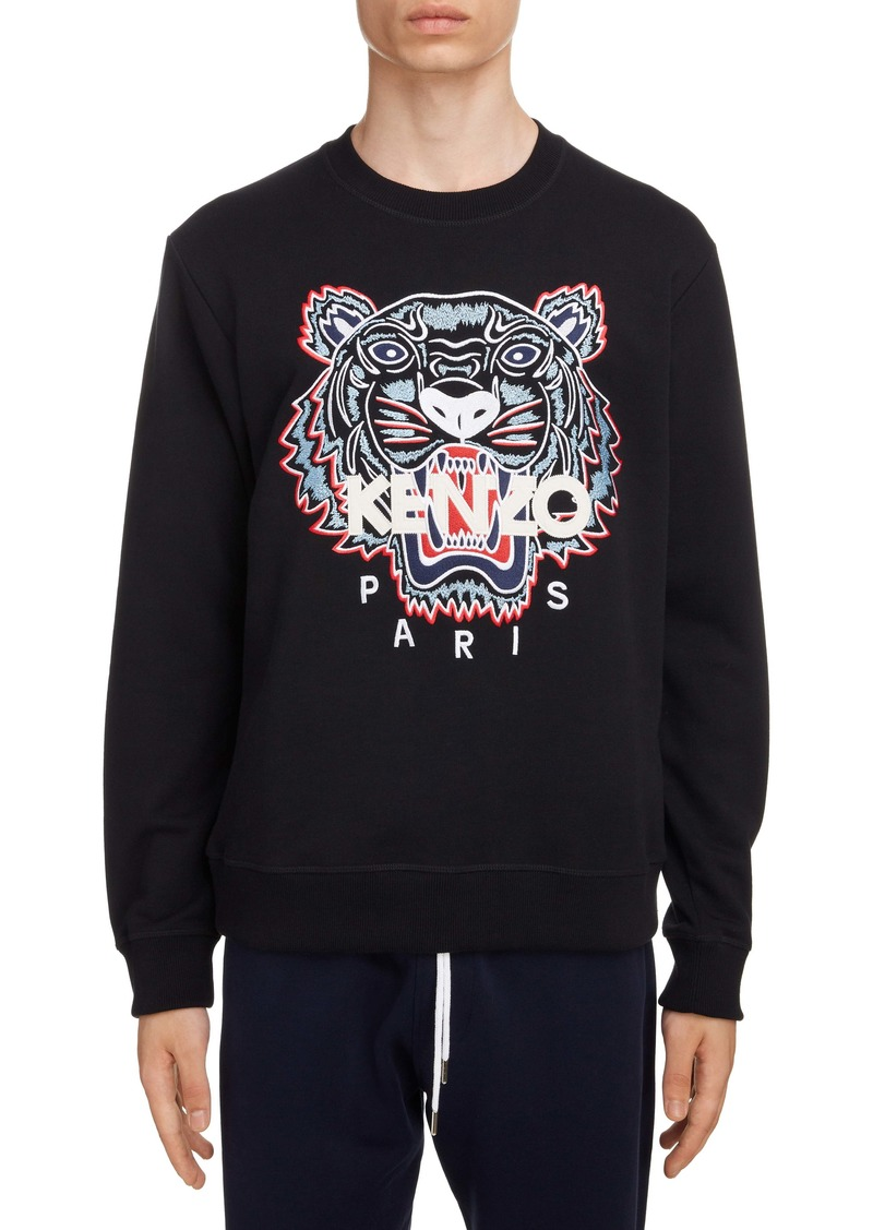 KENZO Classic Tiger Embroidered Crewneck Sweatshirt