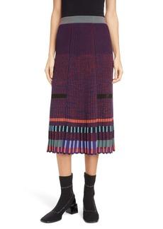 KENZO Colorblock Knit Midi Skirt
