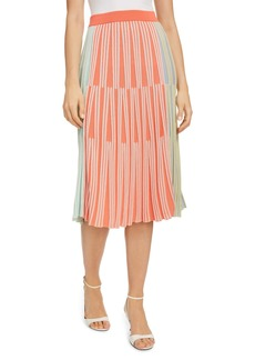 KENZO Colorblock Ribbed Midi Skirt