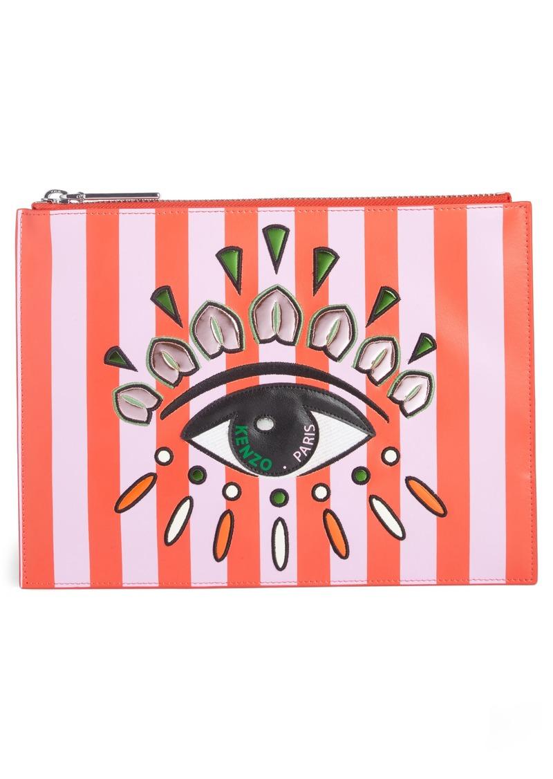 f7992ff555f Kenzo KENZO Cory Embroidered Eye Leather Pouch | Handbags