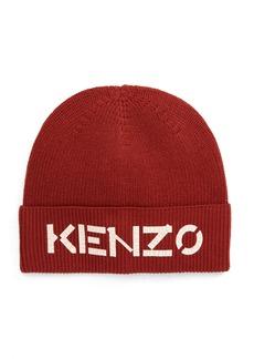 KENZO Crackled Logo Wool Beanie