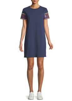 Kenzo Crewneck Logo-Sleeve Mini Shirtdress
