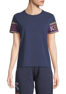 Kenzo Crewneck Logo-Sleeves Cotton T-Shirt