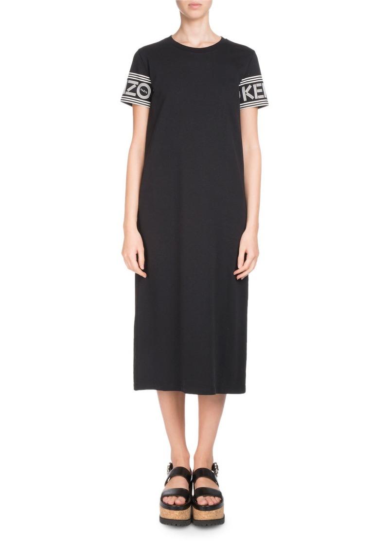 ea49adc3ff1 Kenzo Crewneck Short-Sleeve Midi T-Shirt Dress | Dresses