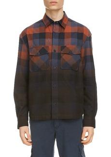 KENZO Dip Dye Buffalo Check Button-Up Shirt
