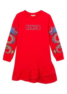 KENZO Dragon Dress (Toddler Girls, Little Girls & Big Girls)