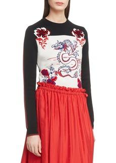 KENZO Dragon Wool Blend Jacquard Sweater