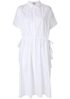 Kenzo drawstring shirt dress - White