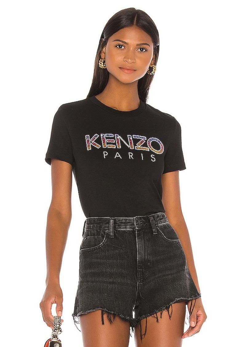 Kenzo Embellished Kenzo Paris T Shirt