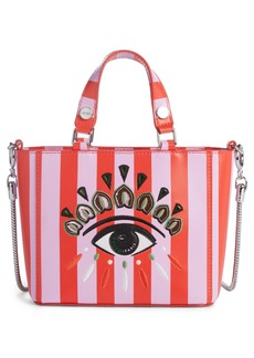 KENZO Embroidered Eye Leather Tote