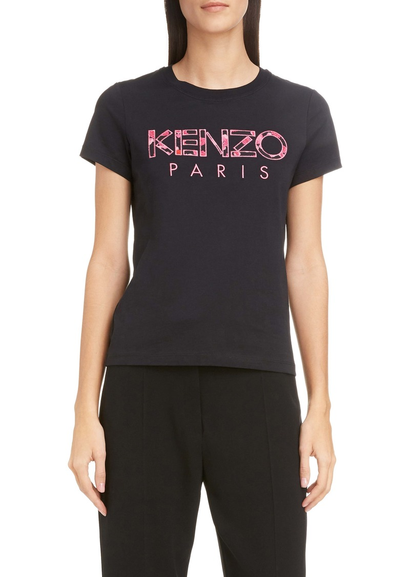 KENZO Embroidered Floral Logo Tee