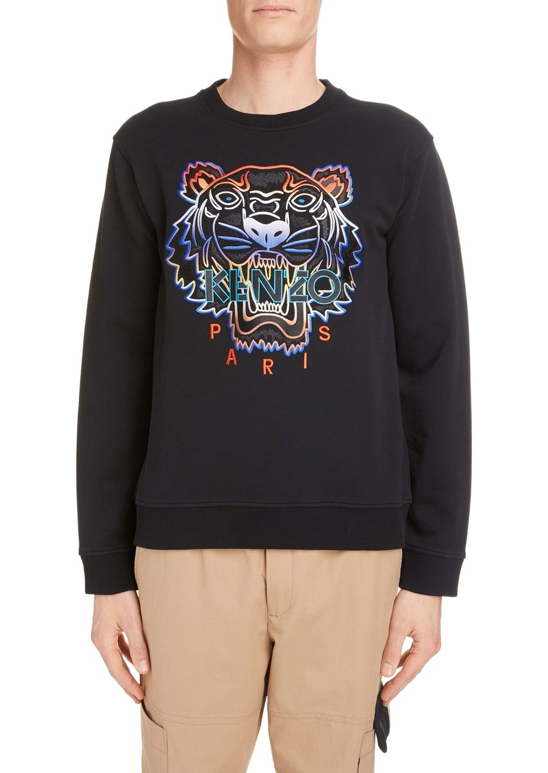 KENZO Embroidered Gradient Tiger Sweatshirt