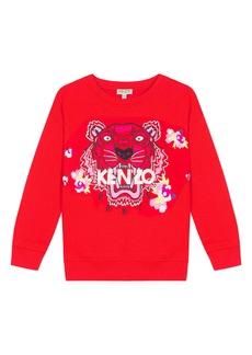 KENZO Embroidered Tiger & Flower Sweatshirt (Toddler Girls, Little Girls & Big Girls)