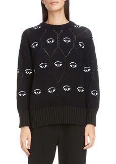 KENZO Eye Logo Wool Blend Sweater