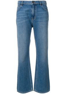 Kenzo flared cropped jeans - Blue