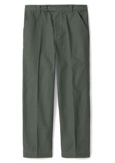 KENZO Flat Front Cotton Pants