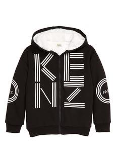 KENZO Fleece Lined Zip Hoodie (Toddler, Little Boy & Big Boy)