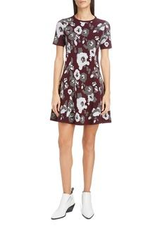 KENZO Floral Jacquard Fit & Flare Minidress