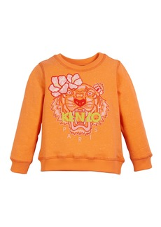 Kenzo Floral Tiger Embroidered Sweatshirt  Size 2-4