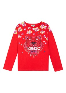 Kenzo Floral Tiger Print Tee  Size 2-6