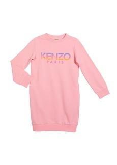 Kenzo Girl's Ombre Letters Logo Fleece Dress  Size 2-6
