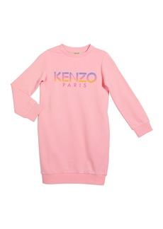 Kenzo Girl's Ombre Letters Logo Fleece Dress  Size 8-12
