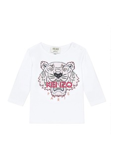 Kenzo Girl's Tiger Graphic Long-Sleeve T-Shirt  Size 6-18 Months
