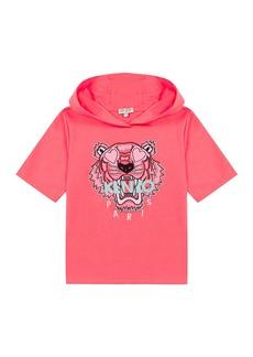 Kenzo Girl's Tiger Short-Sleeve Hooded Sweatshirt  Size 2-6