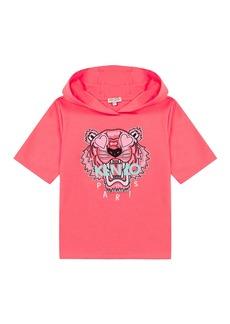 Kenzo Girl's Tiger Short-Sleeve Hooded Sweatshirt  Size 8-12