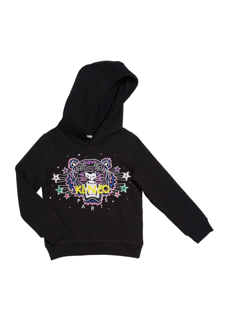 Kenzo Girl's Tiger Star Embroidered Hoodie  Size 8-12