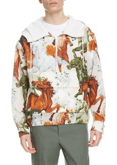 KENZO Half Zip Hooded Anorak Jacket