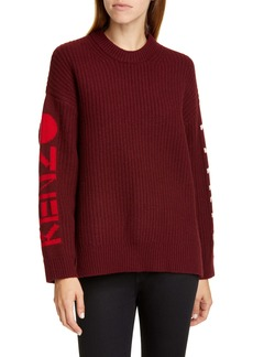 KENZO Intarsia Logo Wool Blend Sweater