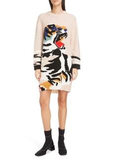 KENZO Intarsia Tiger Sweater Dress