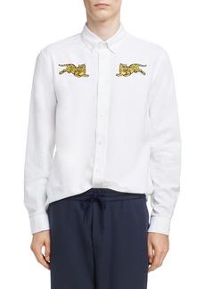 KENZO Jumping Tiger Crest Woven Shirt