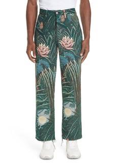 KENZO Jungle Print Cutoff Pants