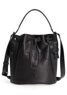 KENZO Kanvas Embroidered Eye Faux Leather Bucket Bag