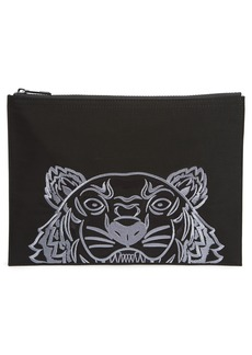 KENZO Kanvas Tiger Embroidered A4 Pouch