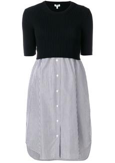 Kenzo knitted shirt dress - Black