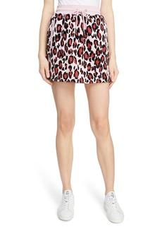 KENZO Leopard Print Jogging Miniskirt