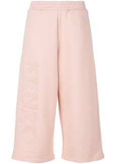 Kenzo logo-embroidered culottes - Pink & Purple