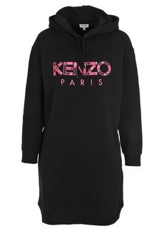 Kenzo Logo Embroidered Hoodie Dress