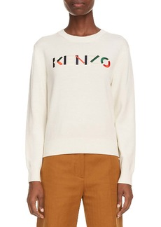 KENZO Logo Embroidered Wool Sweater