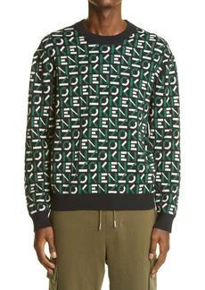 KENZO Logo Jacquard Cotton Blend Sweater