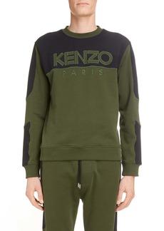 KENZO Logo Mesh Detail Cotton Sweatshirt