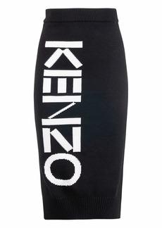 Kenzo Logo Print Knit Skirt