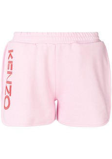 Kenzo logo print track shorts - Pink & Purple