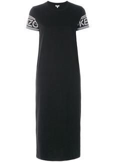 Kenzo logo printed midi T-shirt dress - Black