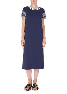 Kenzo Logo-Sleeve Jersey Midi Dress