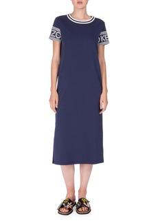 Kenzo Logo-Sleeve Jersey Midi Dress