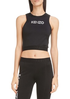 KENZO Logo Stretch Cotton Crop Top
